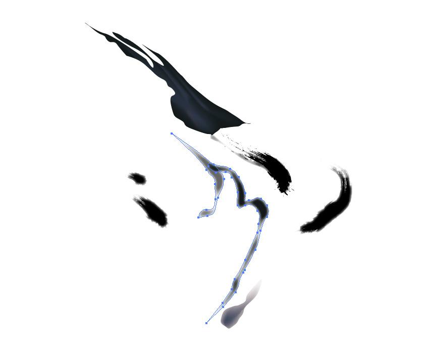 矢量入门教程: 如何绘制无量花鸟画