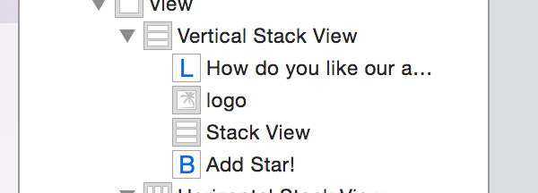 Adding a stack view to another stack view