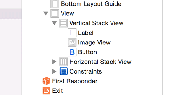 Adding subviews to the top stack view