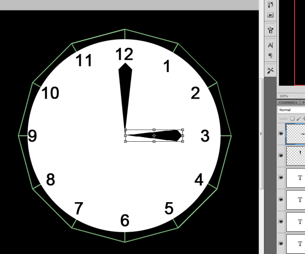 Creating clock hand animations in after effects shorten the length of the hour hand pronofoot35fo Image collections