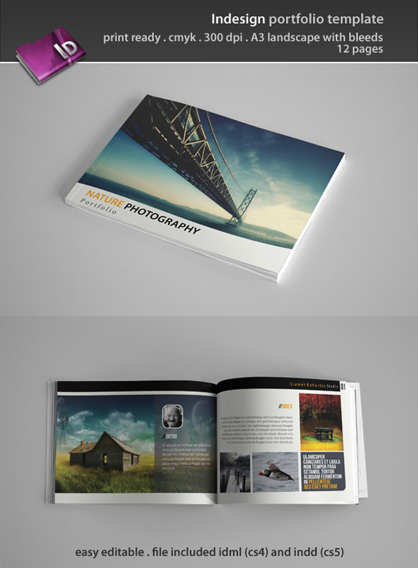 Indesign Portfolio Template on Envato Market