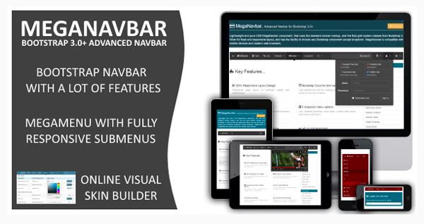 MegaNavbar v 220 Advanced Mega Menu for Bootstrap 30