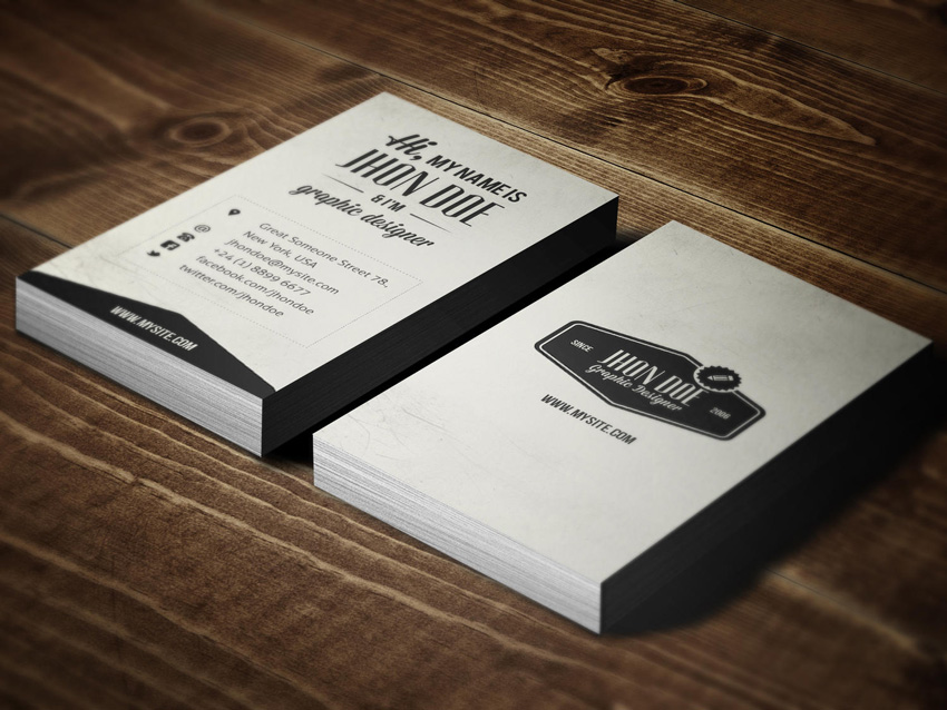 Making a print ready business card using only photoshop vintage business card by sao studio wajeb