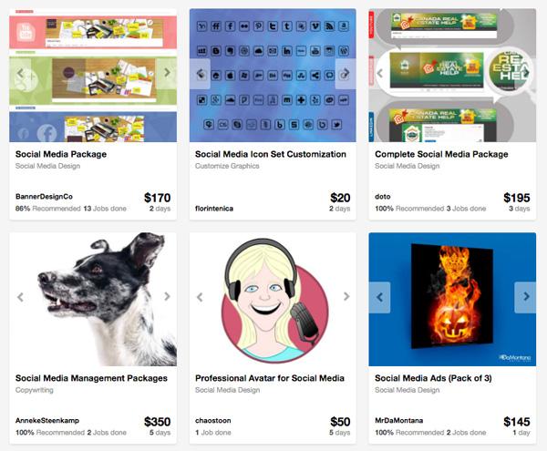 social media design projects on Envato Studio