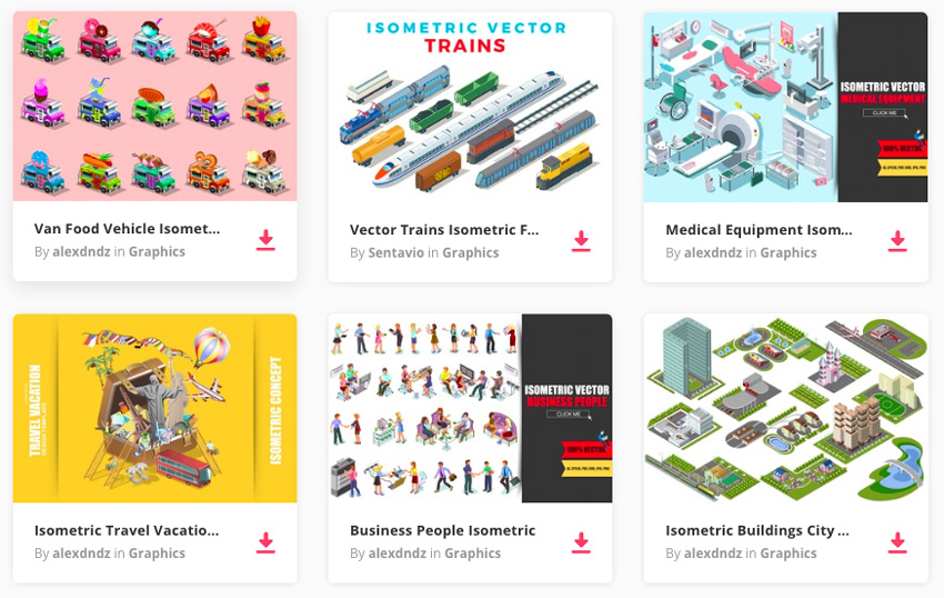 isometric vectors over on Envato Elements