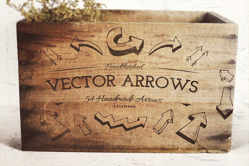 54 Hand-Sketched Vector Arrows