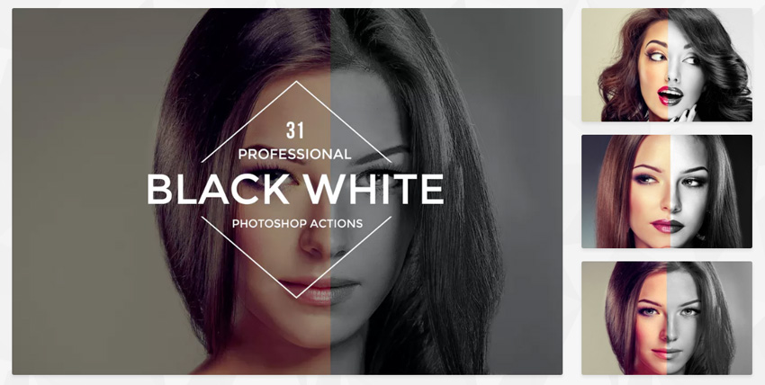 31 Black White Actions