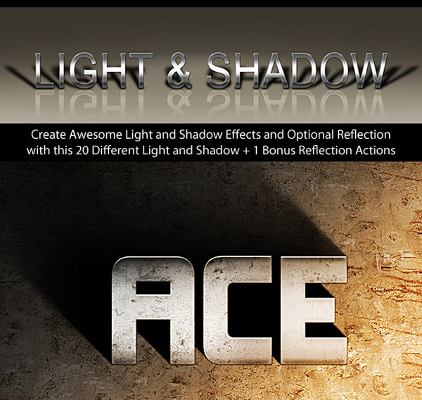 Photoshop Text Effect Cinematic 3D Light  Shadow