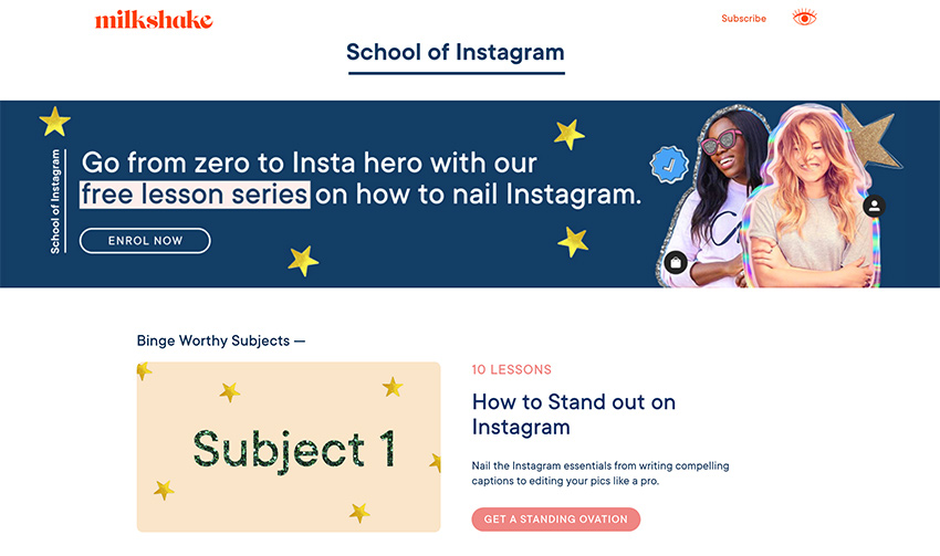 School of Instagram website