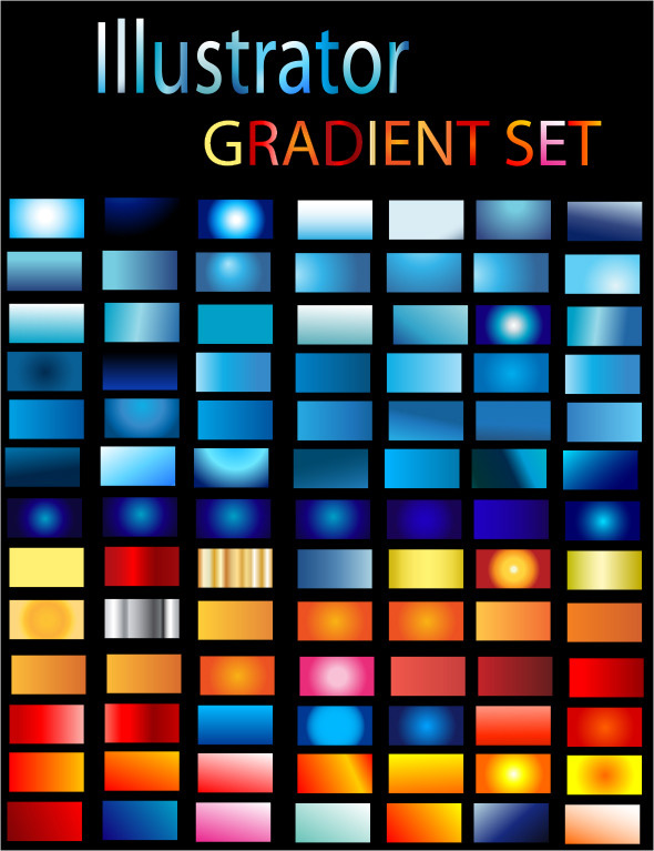 Illustrator Gradient Set