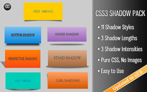 CSS3 Shadow Pack on Envato Market