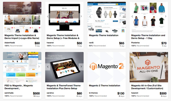 Magento service providers on Envato Studio