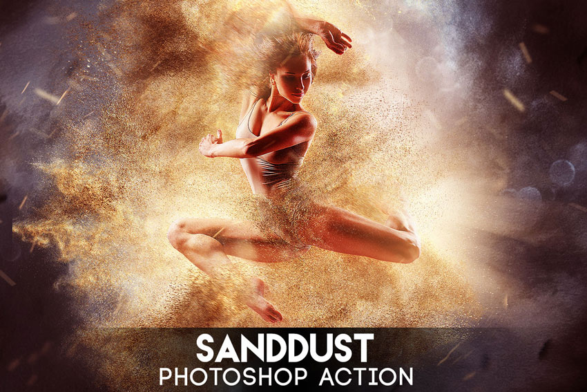 SandDust Photoshop Action on Envato Elements