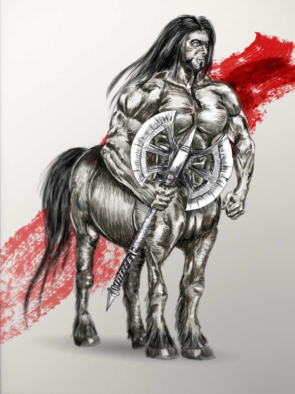 Digitally Drawn Centaur