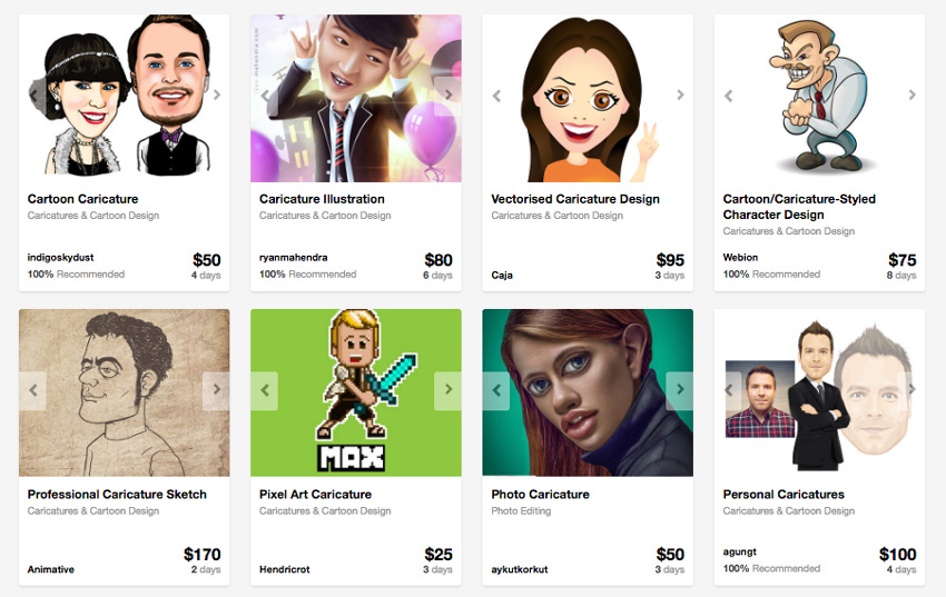 caricaturists on Envato Studio