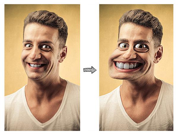 Caricature Photoshop Action on Envato Market