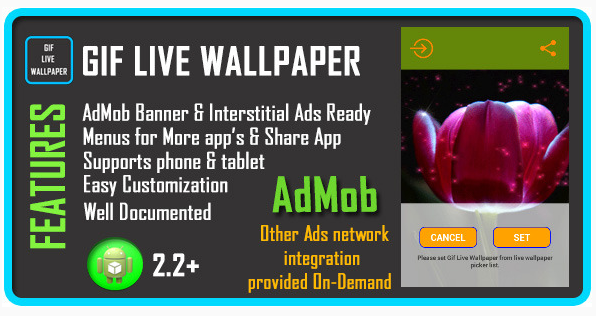 GIF Live Wallpaper item on Envato Market