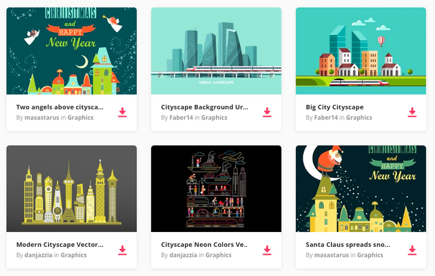 cityscape graphics on Envato Elements