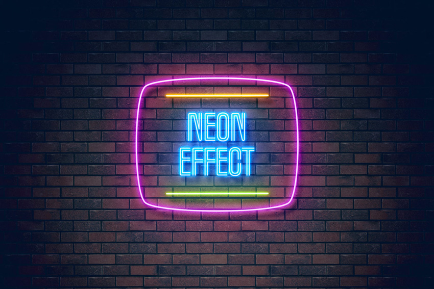 neon light effect on Envato Elements