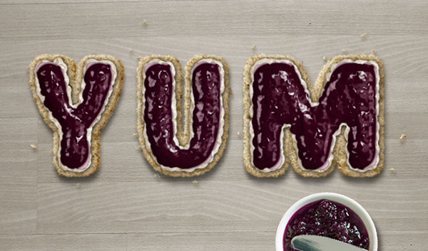 Final scones text effect