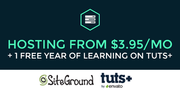 Siteground hosting plan with Tuts