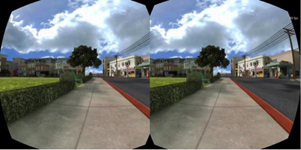 Lens simulation image