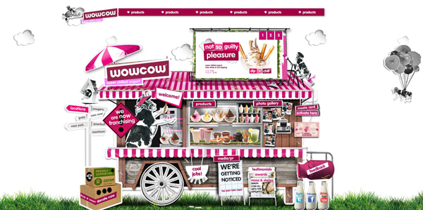 WowCow website design by Andrew Garcia
