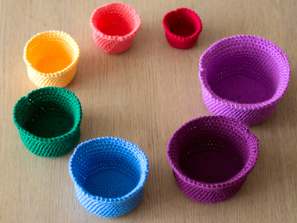Crochet nesting baskets by Wink