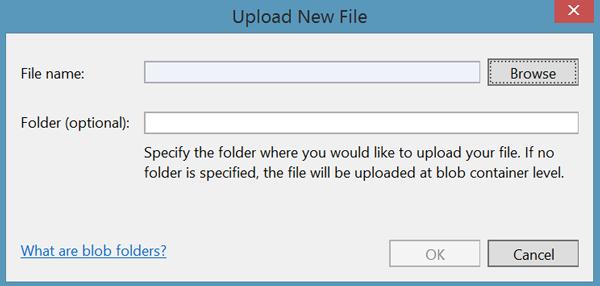 Upload new file window