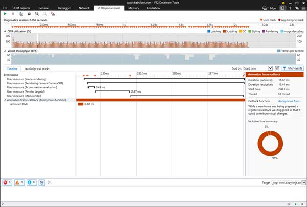 UI responsiveness analyzer