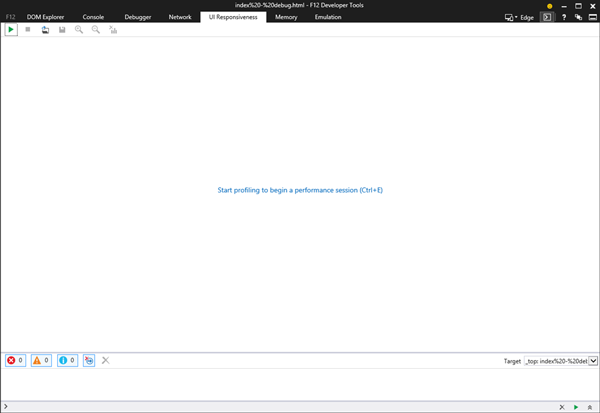 UI Responsiveness screen