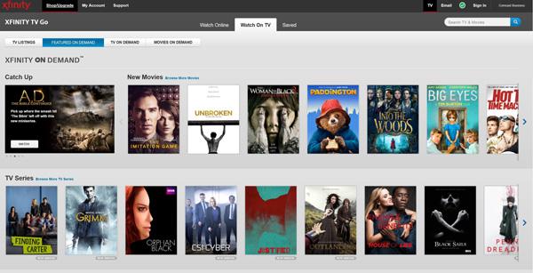 Xfinity on Demand screenshot