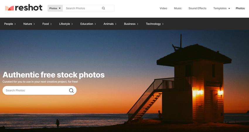 free stock photos on Reshot