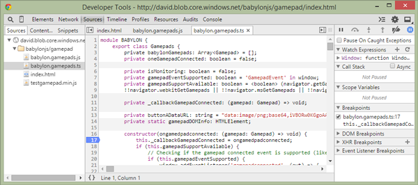 line 17 of the babylongamepadsts TypeScript file