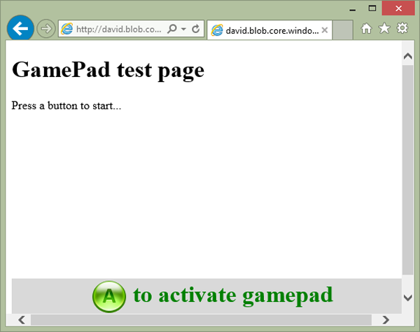 GamePad test page