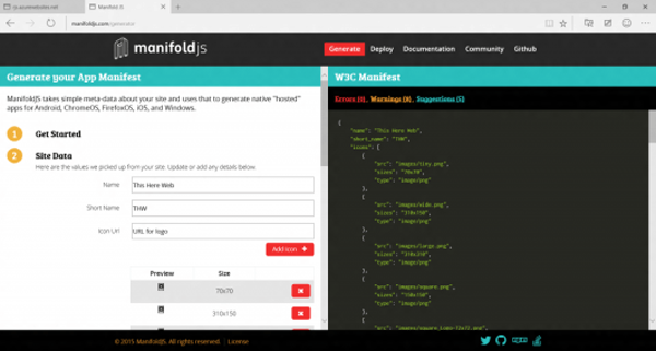 Manifold Web App Generator