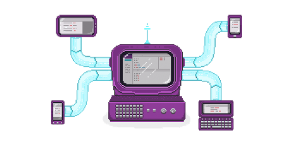 Diagram showing Vorlon working with different platforms