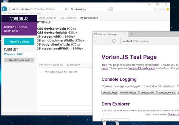 Vorlonjs test page