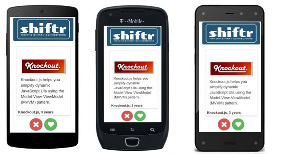 Shiftr app on Android phones