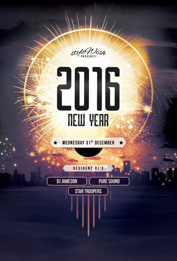 10 top tips for creating awesome event flyers new year flyer stopboris Choice Image