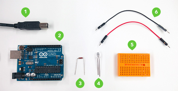 What you need to build a hardware LED with Arduino