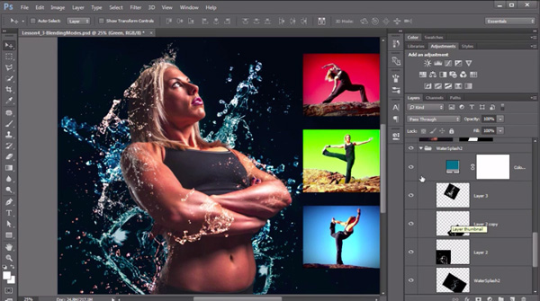 Screenshot from the Working With Color in Adobe Photoshop course