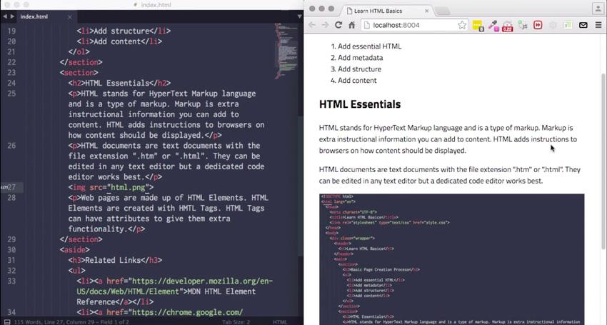 Start Here Learn HTML Basics