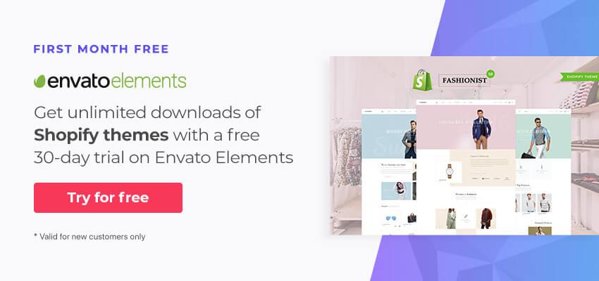 Shopify Themes on Envato Elements