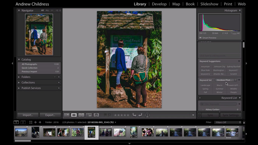 Lightroom keywording