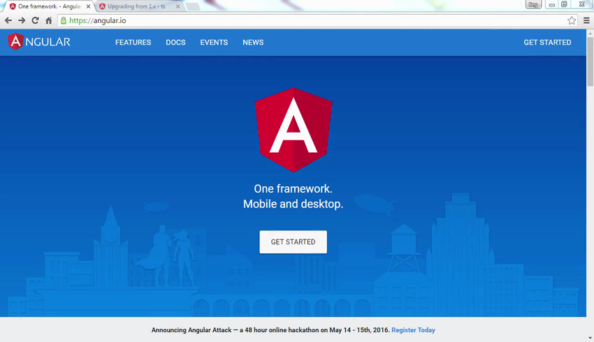 AngularJS website