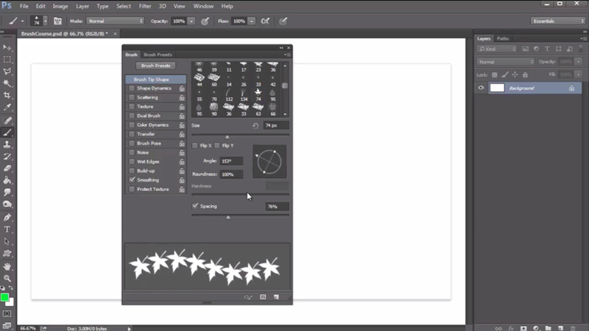 Screenshot from How to Use the Brush Tool in Adobe Photoshop.
