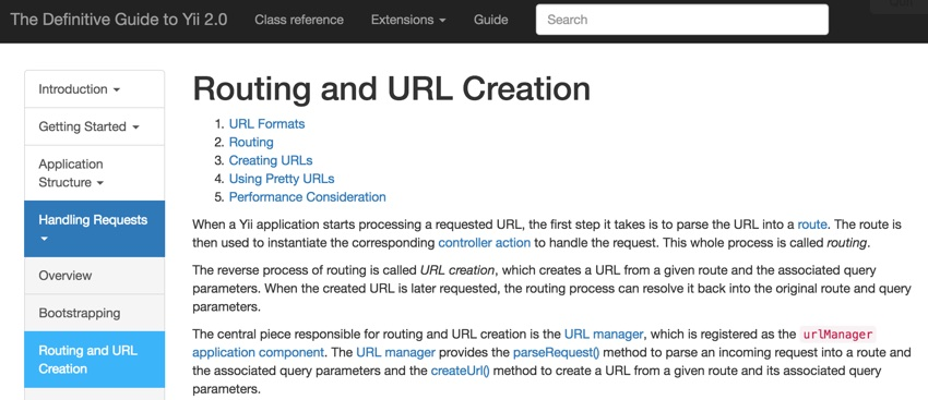 Yii2 Routing and URL Creation