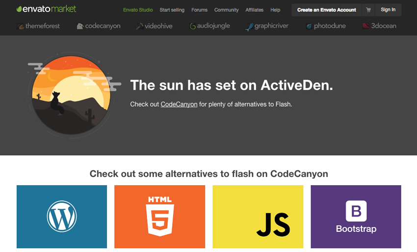 How the ActiveDen website looks today