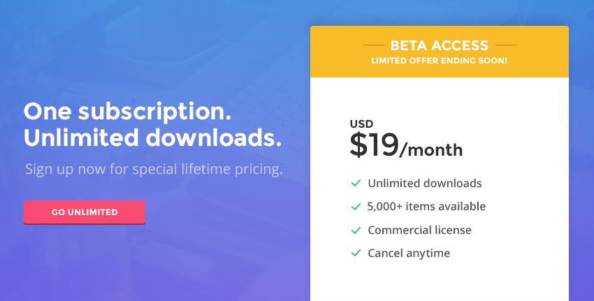 Envato Elements beta access